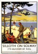 Silloth on Solway, Cumbria. Vintage LNER Travel Poster by Henry George Gawthorn